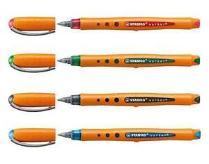 Stabilo-Bionic-Worker-Rollerball-Pens-Fine-0-3mm-4-Ink-Colours-Available