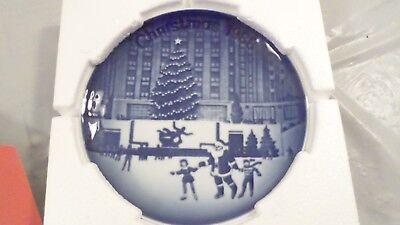 1988 BING /& GRONDAHL CHRISTMAS IN AMERICA PLATE AT ROCKEFELLER CENTER