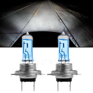2pcs blanc h7 55w 6000k xenon gaz halog ne phare lampe ampoules 12v ebay. Black Bedroom Furniture Sets. Home Design Ideas
