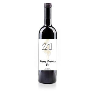 Personalised Birthday//Anniversary Wine Bottle Labels for Men//Women Gift