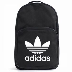 dba58472e5 Image is loading ADIDAS-BACKPACK-CLASSIC-TREFOIL-Black-logo-daypack-college-