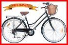 BRAND NEW VINTAGE RETRO LADIES CRUISER BICYCLE / BIKE 6 SPEED BLACK