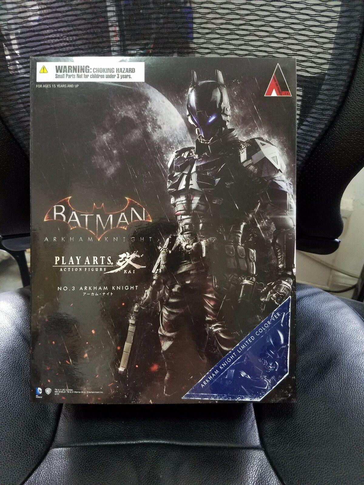 Batman ARKHAM KNIGHT Square Enix Play Arts Kai Figure NYCC 2015 EXCLUSIVE MISB