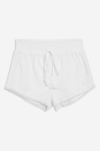 Ladies EX FAMOUS BRAND Skinny Pantalone Shorts Hotpants Broderie