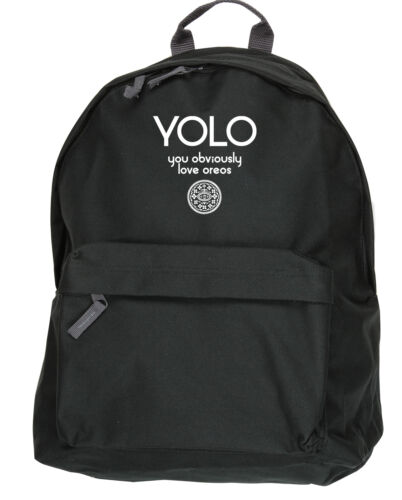 31x42x21cm YOLO You Obviously Love Oreos backpack ruck sack Size