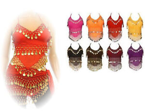 Wholesale-Lot-of-50-Assorted-Womens-Halter-Camisole-Belly-Dance-Top-Dangle-Coins