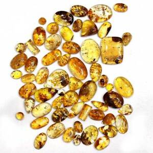 Baltic Amber Natural Baltic Amber Cabochon Loose Gemstone for jewelry Making
