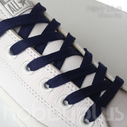 2 Pairs Flat Shoe Laces Boot Trainer Shoelaces UK Seller Width 10mm