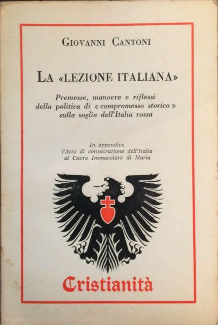 La lezione italiana.