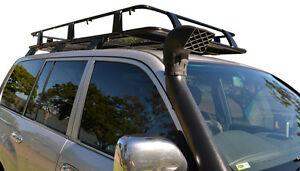 Toyota-Land-Cruiser-100-Series-Steel-Roof-Rack-Basket-Black-New-incl-Brackets