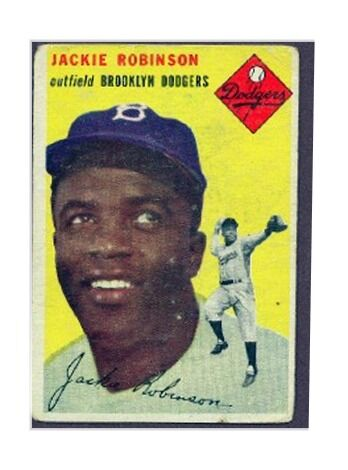 Image result for 1954 jackie robinson topps