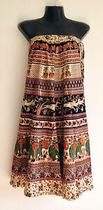 Indian-summer-beach-Maxi-Skirt-Knee-Length-Gown-Cotton-Crepe-Georgette-Patchwork