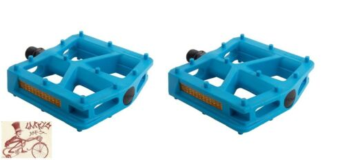 "BLACK OPS T-BAR NYLON BLUE 9//16/"" BICYCLE PEDALS"