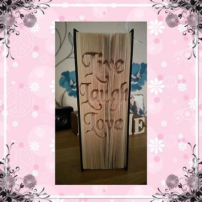 Laugh Love Book Art Folding PATTERN Cut /& Fold Method #1146 Live