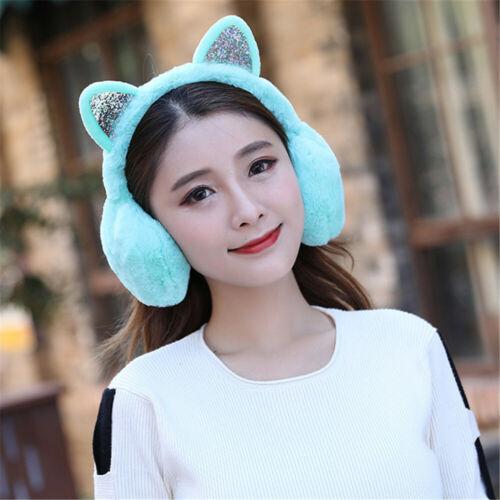 Outdoor Earmuff Winter Warm Earmuffs Cat Ears Ear Warmers for Cold Weather