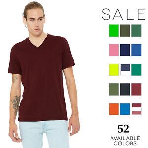 Bella-Canvas-Men-039-s-Jersey-Short-Sleeve-V-Neck-T-Shirt-3005-XS-3XL