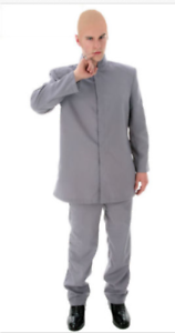Evil Austin Powers 1960S Adult Mens Halloween Deluxe Cosplay Costume Dr