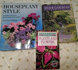 3-Gardening-Books-Houseplant-Style-Shade-Gardener-Plants-amp-Flowers