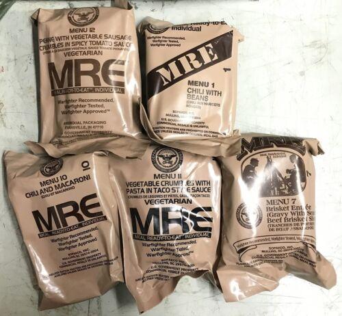 5 US Army Homme Boîte OTAN MRE Meal Ready to volonté extérieur camping repas