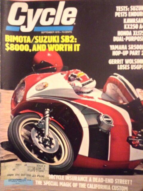 Cycle Magazine Bimota/Suzuki SB2 September 1978 102717nonrh