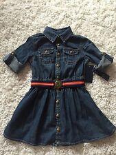 Polo Ralph Lauren Girls Jean Dress Belted NWT Size 2T