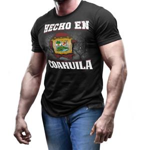 Hecho En Coahuila Mexico Coat of Arm Shirt Mexican Flag emblem T ... 78f274227