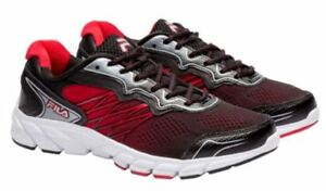 NEW-MEN-039-S-FILA-INDUS-RUNNING-Coolmax-Lightweight-ATHLETIC-SHOES-Red-Black-White