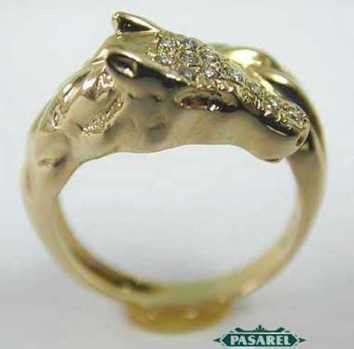 Solid 10k Yellow Gold Pear 6x10mm Engagement Semi Mount Pave 0.2ct Diamonds Ring Good Taste Fine Rings