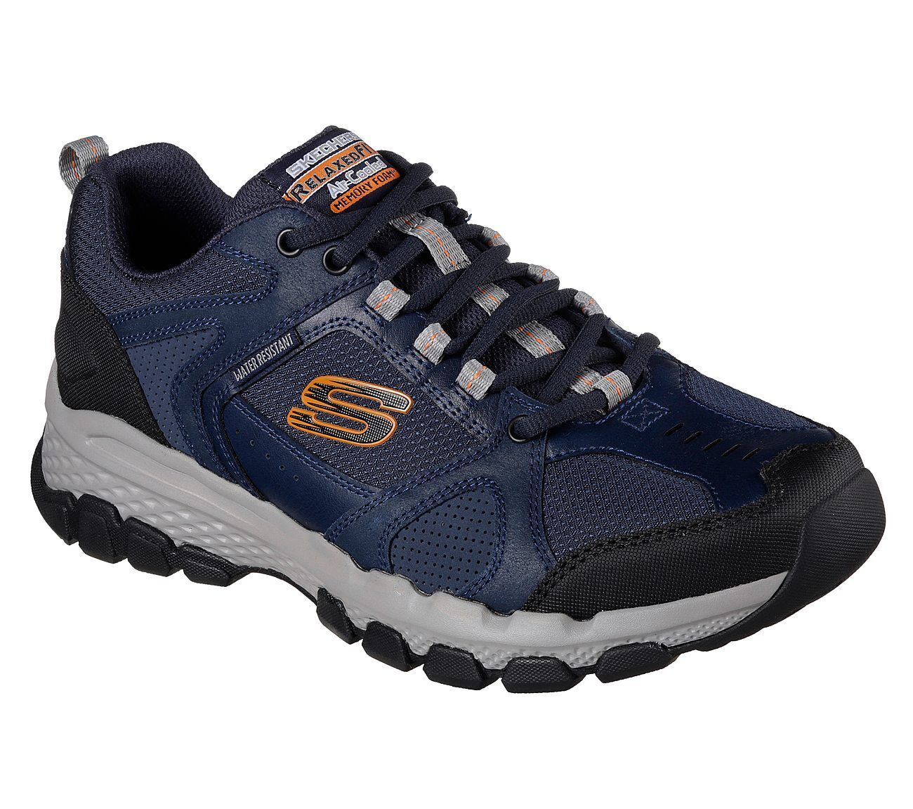 Scarpe casual da uomo 51586 Navy Skechers shoe uomo Memory Foam Sport Trail Hiking Comfort Casual