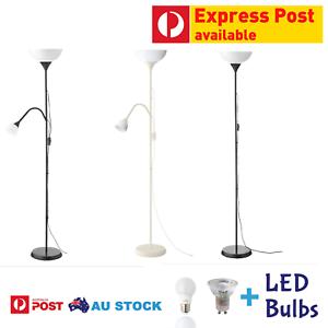 Floor Uplight Reading Dual Lamp Double Twin Single Lights Uplighter By Ikea Ebay