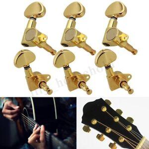 Set 6 Versiegelt Akustische Gitarre Saiten Stimmwirbel Tuner