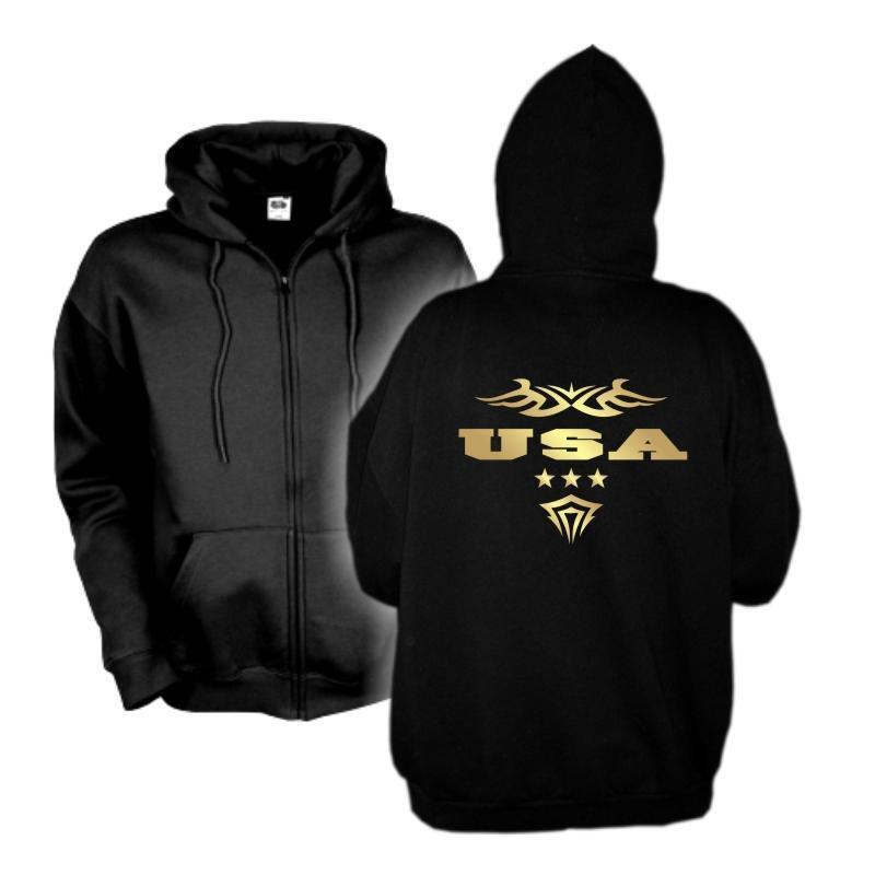 Kapuzenjacke USA Amerika Ländershirt Zip Hoodie Fan Sweatjacke S-6XL (WMS06-71e)