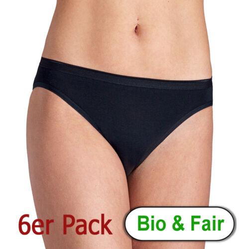 Esge 6er Pack Bikinslip Schwarz oder Weiß 100 /% Bio Baumwolle kba GOTS