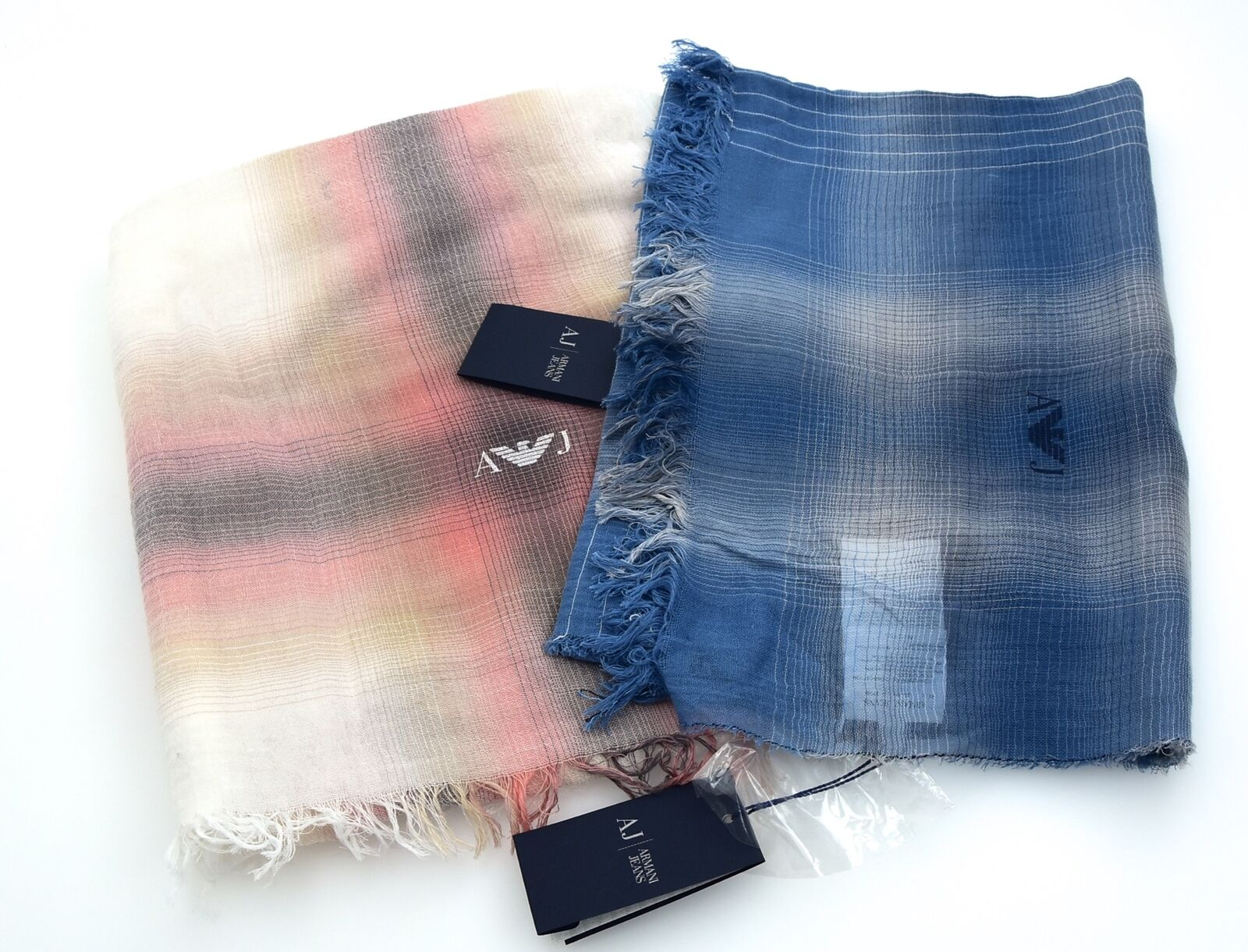 ARMANI JEANS WOMAN PASHMINA SCARF COTTON MADE IN ITALY CODE R5411