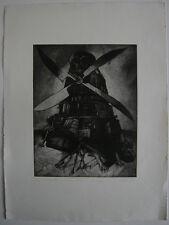 Winfried Wolk (1941) Don Quijote Orig Radierung signiert 1988 Leipziger Schule