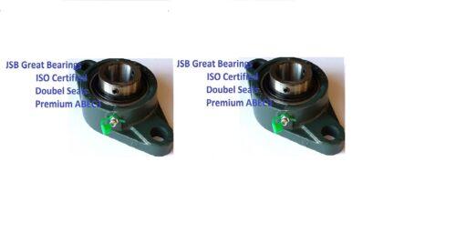 Premium UCF204-12 double seals ABEC3 square flange bearings 3//4 bore UCF204 12