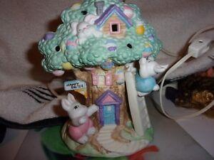 Easter Easter Bunny Easter Egg Tree House Lamp Light Works