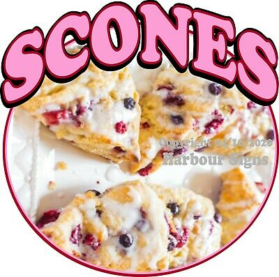 Choose Your Size Concession Food Truck Vinyl Sticker Scones DECAL