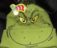 Green Dr. Seuss How The Grinch Stole Christmas Movie Book Character Beanie  Hat 1db6c43d6c31