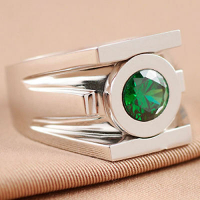 Details about  /1.20 Ct Brilliant Cut Superhero Green Lantern Power 925 Sterling Silver Ring
