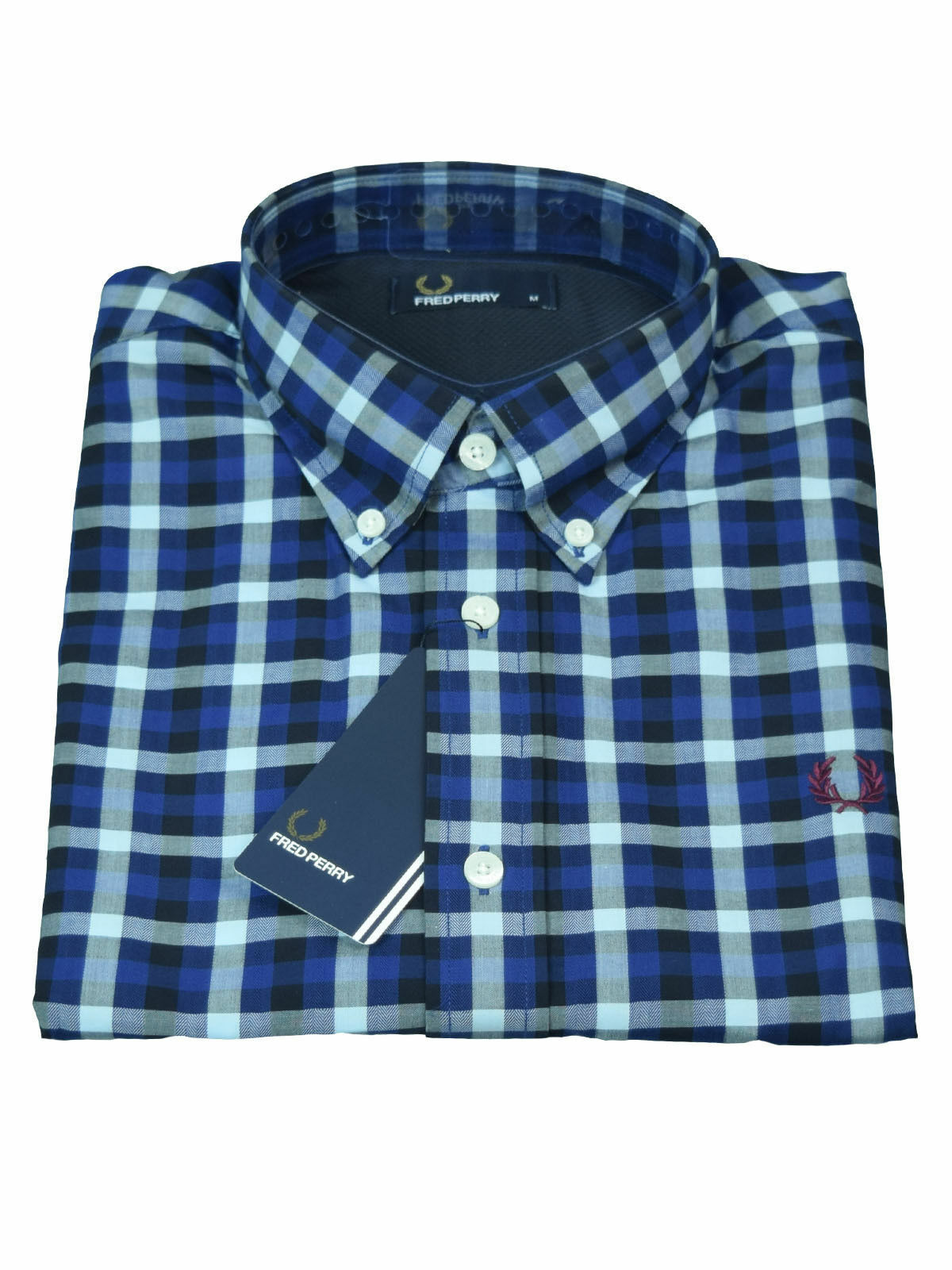 Fred Perry Button Down Langarm - Hemd M8290 111 blue  5772
