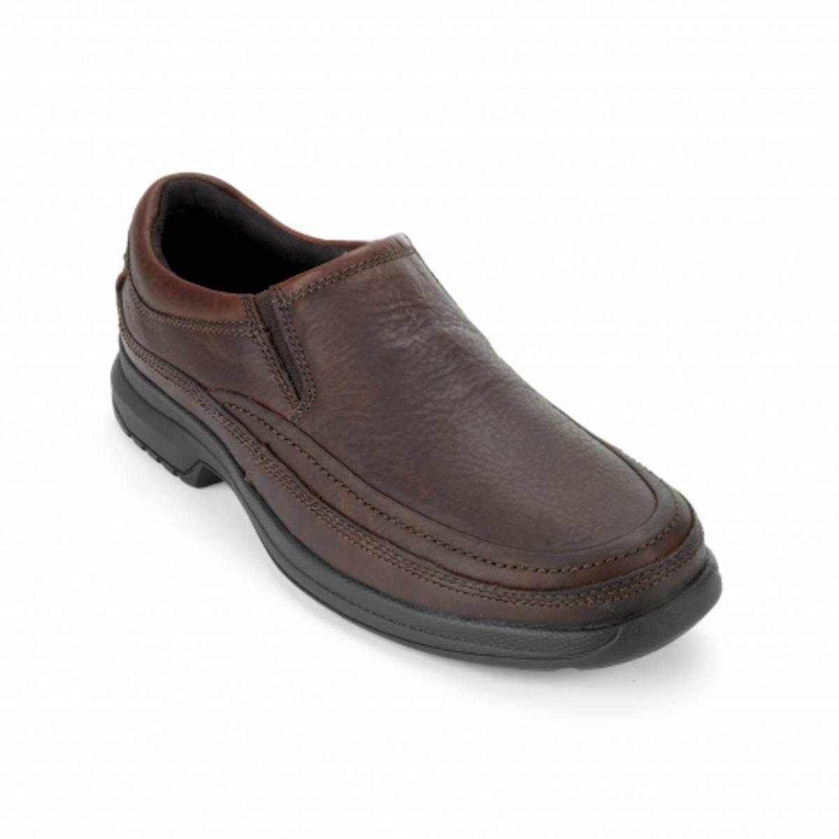Homme Rockport Moc Slip On Dark Tan Mocassin Chaussures K58511