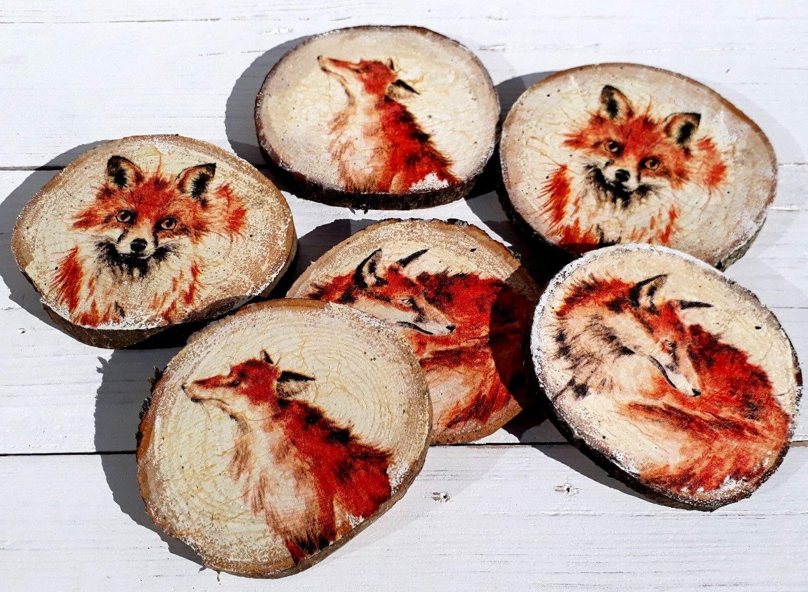 F-F5SC Strawberries Print Single Leather Photo Coaster Animal Breed Gift