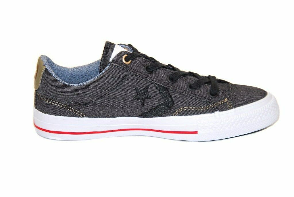 Converse Unisex Star Player 151310C Sneakers Black Size UK 4