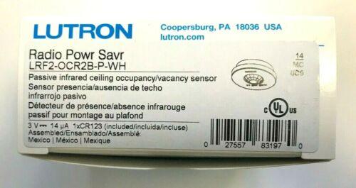 360 Deg Wireless Occupancy//Vacancy Ceiling Sensor 10:Lutron LRF2-OCR2B-P-WH