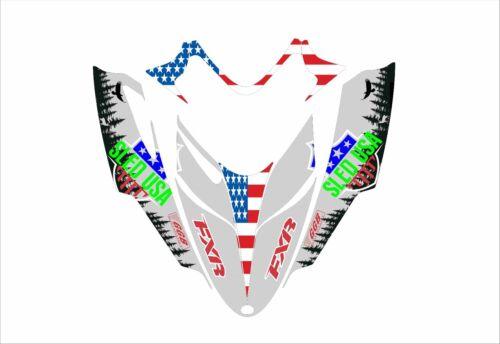 POLARIS IQ RMK SHIFT DRAGON assault graphics DECAL STICKER fxr sled usa ggb grey