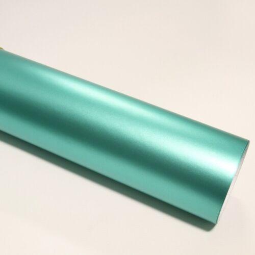 DIN A4 Wrapping Folie Chrom Matt Mint 21cm x 29,7cm Autofolie mit Luftkanälen