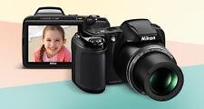 Nikon Coolpix L340 20.2 Megapixels & 28x Optical Zoom with VAT PAID BILL