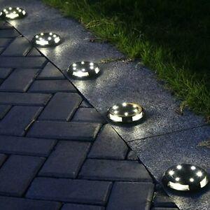 Solar lawn light Ground Lights Floor Decking Patio Outdoor Garden Path LED Lamps