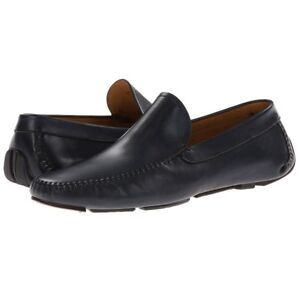 Magnanni-034-Tabor-034-Driving-Loafers-Moccasins-Men-039-s-Leather-Shoes-Navy